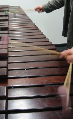 Marimba in Aktion